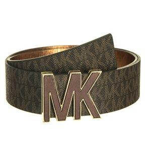 Michael Kors 553504 Faux Leather Signature Belt